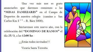 Invitacion Misa 25-03